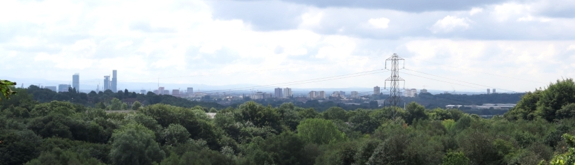 Panorama of Manchester from the North